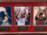 Nick Saban Autographed Photos Framed Alabama