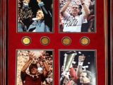 4 in one saban autos coins framed