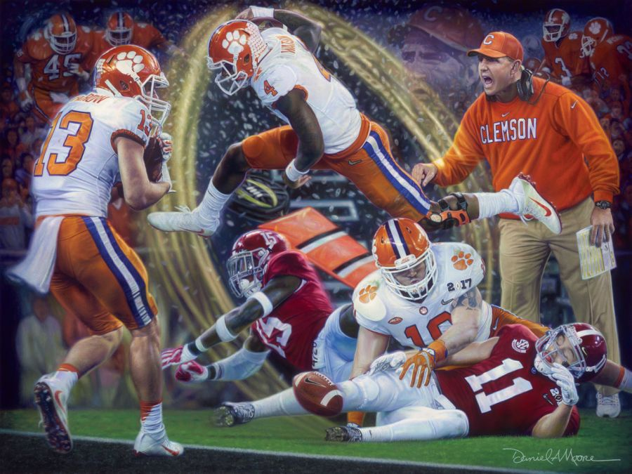 Legends & Champions Clemson National Championship Giclee Collector's  Edition Daniel Moore print