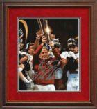 saban 17 trophy framed