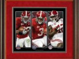 Championship Backs Framed Print by Greg Gamble Alabama Football Pictures