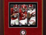 Championship Backs Framed Print by Greg Gamble with Coin Alabama Football Pictures