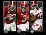 Championship Backs by Greg Gamble Print Alabama Football Pictures